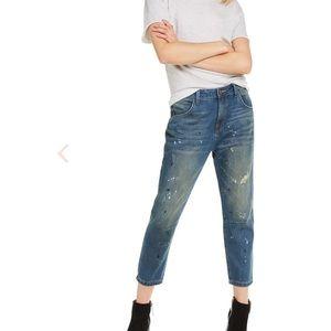 WILDFOX Baggy Cropped Boyfriend Jeans